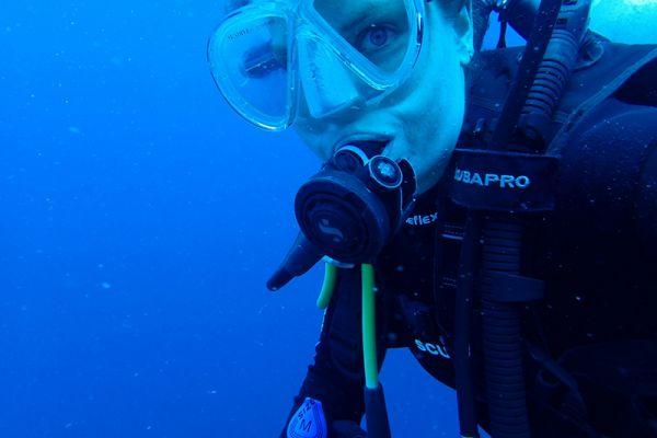 A scuba diver.