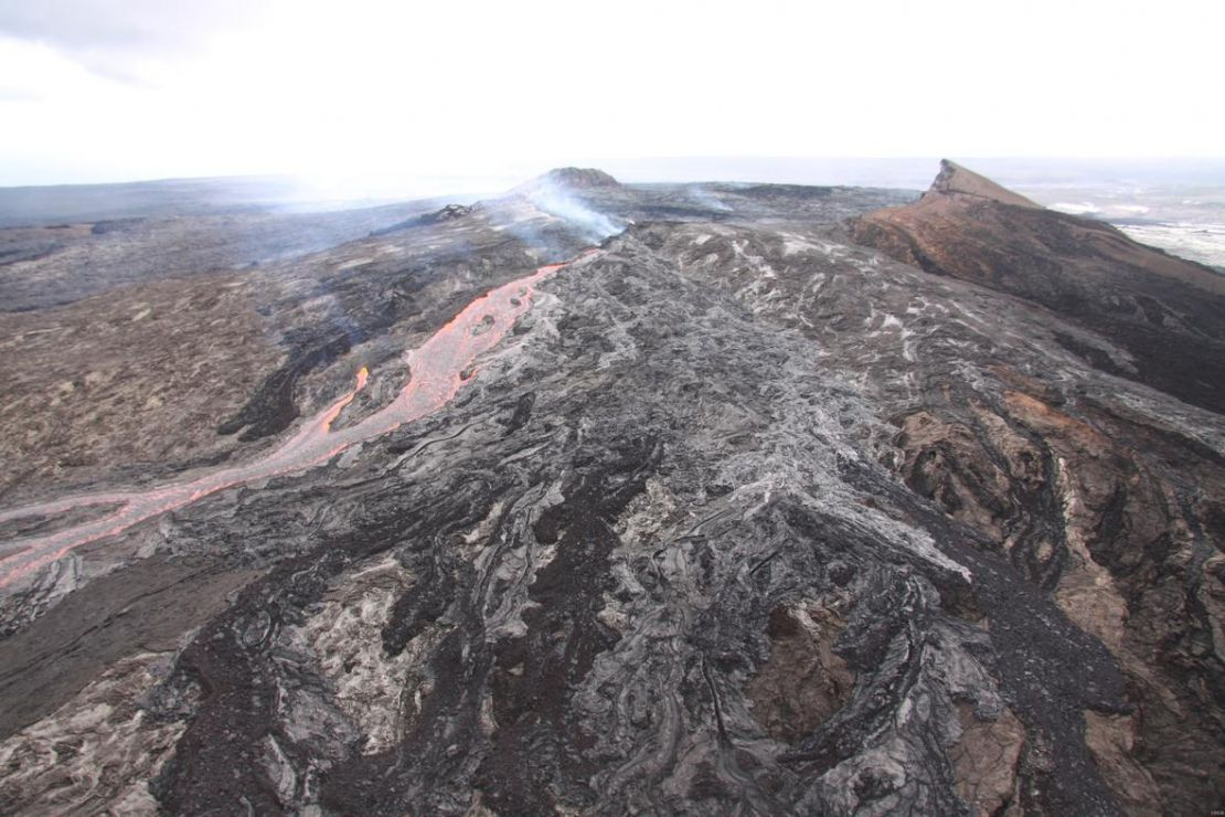 View of volcano.