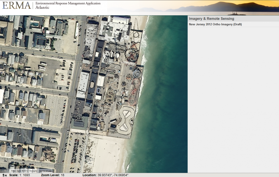 Aerial photos of Funtown Pier Amusement Park, N.J., before Sandy hit.