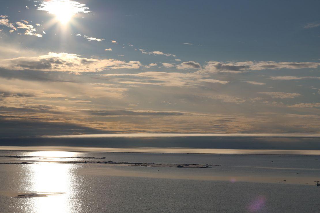 Sunrise on the Arctic Ocean