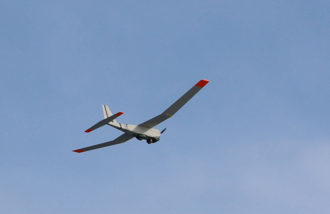 Puma unmanned aerial system on a test flight.