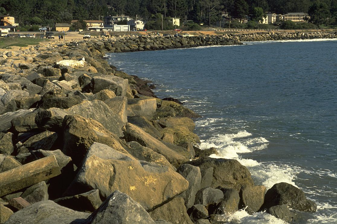 Photo: Riprap along coast.