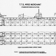 Starboard side elevation and deck plan for the TTS Argo Merchant.