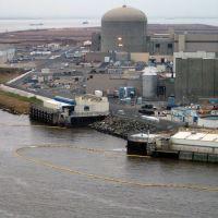 An industrial shoreline.
