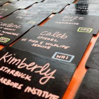 Black name tags