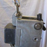 Piece of metal equipment.