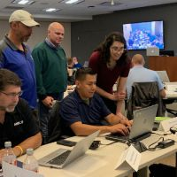 Instructors leading an exercise during the course.  Image credit: NOAA.