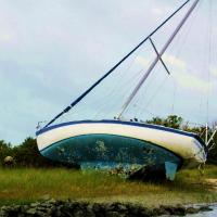 A derelict vessel.