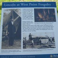 A sign describing the historical site.