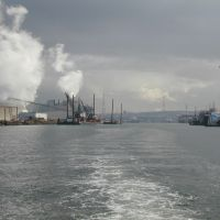 View of the Duwamish River and industrial activity.