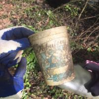Old plastic cup.