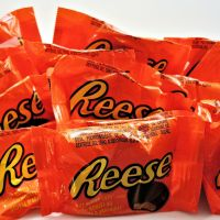 Reese's peanut butter cups in their packaging.