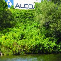 Alcoa Aluminum plant in Massena, New York