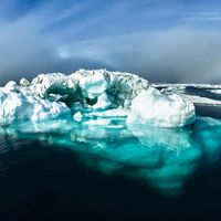 An iceberg captured during a mission in 2012 to map areas of the Arctic.