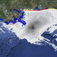 ERMA Gulf Response application displays oiling data in Gulf of Mexico.