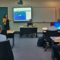 Teaching U.S. Coast Guard Academy students about the ERMA mapping tool.