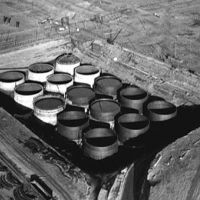 Some of the older nuclear waste storage tanks at Hanford in southeast Washington