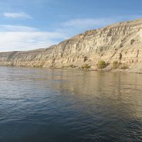 A view of the free-flowing section of Columbia River known as the Hanford Reach.