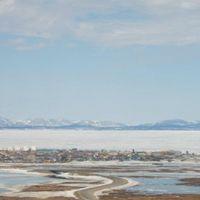Overlook of Kotzebue, Alaska.