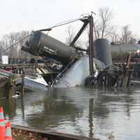 A train derailment in Paulsboro, N.J. released 23,000 gallons of vinyl chloride.