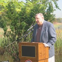 Ernie Oros at the Woodbridge marsh dedication ceremony in 2007