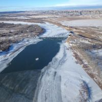 Overview of the Yellowstone River, Jan. 19, 2015.