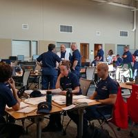 USCG members participating in the COOP exercise.