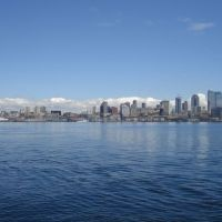 Seattle skyline on Lake Washington. Image credit: NOAA.