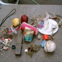 Common marine debris items found on beaches.