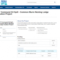 A screenshot of a webpage on the Command Oil Spill.