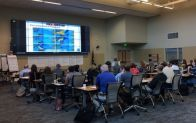 Participants learn about coastal natural disasters during the pilot offering.