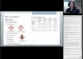 Screen grab of OR&R chemist presenting to the group.