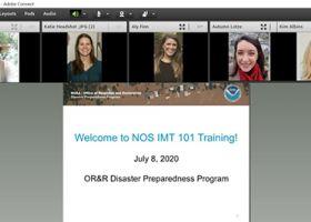 Screen grab of virtual training.