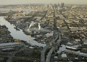 An urban waterway.