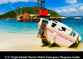 Report cover showing a beached vessel.