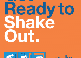 Get Ready to Shake Out event poster.
