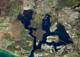 Satellite image of Pearl Harbor.