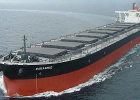Large shipping vessel.