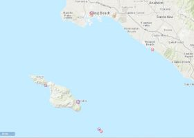 A screenshot of a map of California.