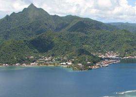 An island landscape.