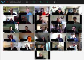 A screenshot of a video meeting.
