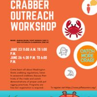Crabber Outreach Workshop program cover.