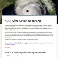Screen shot of After Action Report.