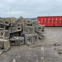 Abandoned lobster traps.