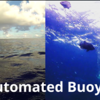 Two photos showing automated buoy systems.