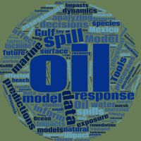 Oil spill response word cloud