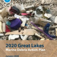 Great Lakes Marine Debris Action plan cover.