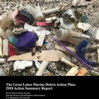 Report cover showing marine debris.