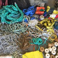 Various marine debris items.