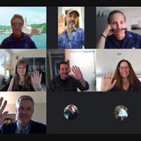 Screen shot of virtual participants.